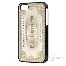 For iphone 4/4s 5/5s 5c SE 6/6s plus ipod touch 4/5/6 back skins mobile cellphone cases cover Hogwarts Vintage Train Ticket