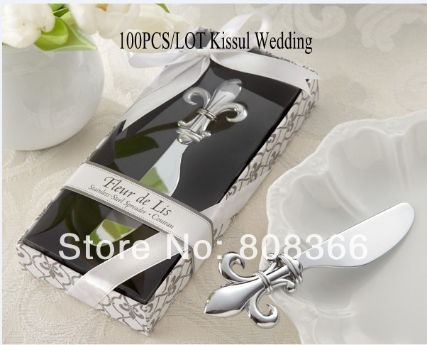 Unique Wedding Favors Wholesale Fleur de lis Chrome Spreader Wedding ...