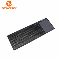 Zoweetek K12BT-1 2015 New Utra thin and Light weight 1 Mini Wireless Spanish Bluetooth Keyboards Touchpad For Windows Android