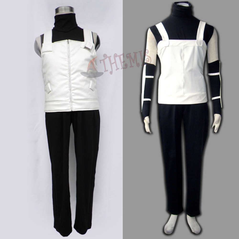 Athemis Naruto Hatake Kakashi Cosplay Costume White French Leather Vest Outfit with Blue Headband Gift High QualityОдежда и ак�е��уары<br><br><br>Aliexpress