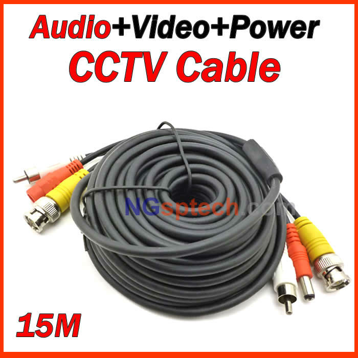 Free shipping 2013 Big sale 15M Audio Video Power Camera 3 into 1 Cable BNC cctv accessories RG59<br><br>Aliexpress