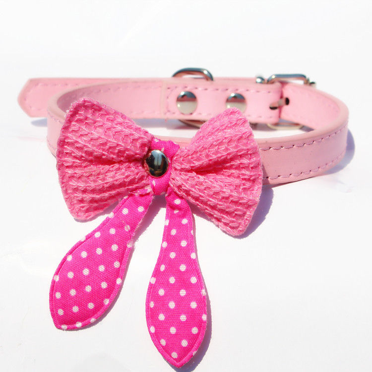 """2015 New Hot Fashion Small Dog Pet Puppy Cute Bow Necktie Soft Band Collar Clothes XS S 7-13""""(China (Mainland))"""