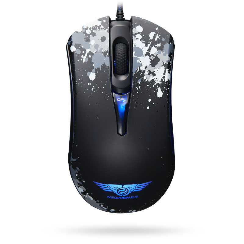 Newmen gx2 variable speed push button self blu ray professional electric definition wired mouse(China (Mainland))