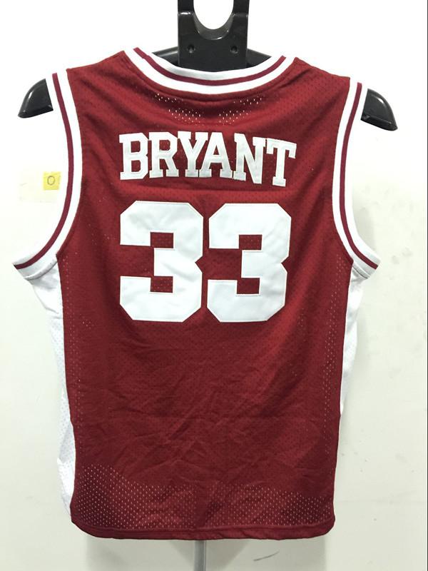 new arrived Movie Men high-school version 33# Bryant basketball jerseys embroidery mesh restoring(China (Mainland))