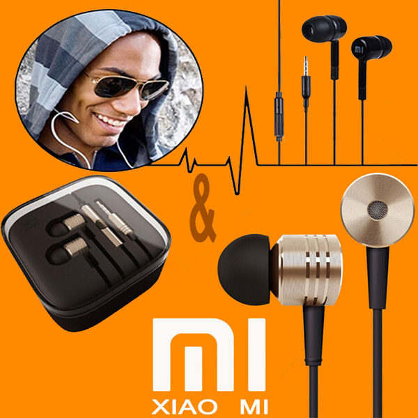 100%Original XIAOMI Earphones Headphones MIC Headsets Stereo 3.5mm Jack Bass In Ear noise isolating Headphones MP4 Android Phone(China (Mainland))