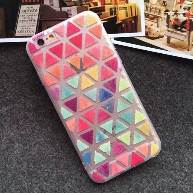 Etui iPhone 5/5S/6/6S/6Plus/6SPlus Colorful Triangle