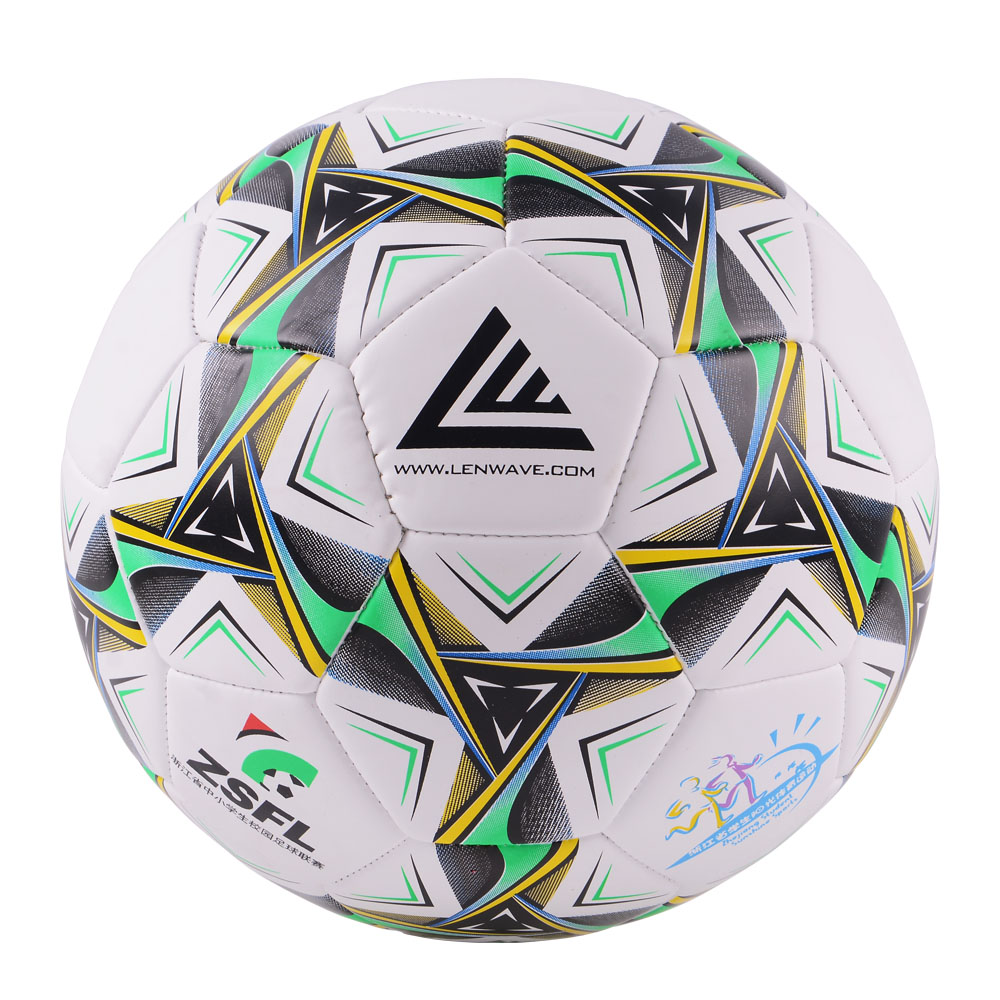 Lenwave Brand Two Color PVC Football Ball Primary And Middle School Students Training Equipment Soccer Ball Size 4(China (Mainland))