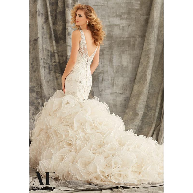 Wedding Dresses Mermaid Ruffles : Mermaid wedding dresses with ruffles and lace gorgeous