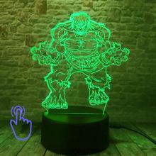 Flash vingadores endgame modelo 3d ilusão led nightlight colorido dormir luz marvel homem de ferro hulk spiderman figura brinquedos(China)