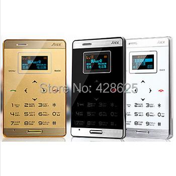 Russian Original AIEK M3 Card Phone Dual Sim Mini Touch Ultra thin slim phone Aeku Phone MP3 FM Bluetooth VS Aiek M5 phone(China (Mainland))