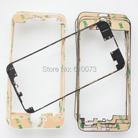10PCS Middle Frame Housing Cover Bezel for Apple iPhone 6 LCD Bracket Middle Frame Bezel Replacement With 3M Sticker Black White
