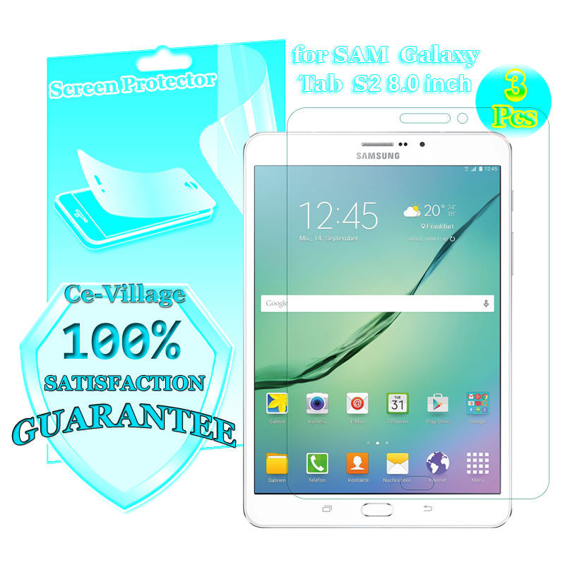 Premium Screen Protector Case Cover Samsung Galaxy Tab S2 8.0 inch Tablet , T710 T715 LCD Guard - Ce-Village Tech Co.,LTD store