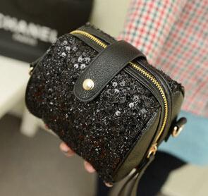 New fashion mulit function cross body bag much style mini bright bag rivet vintga zipper decoration(China (Mainland))