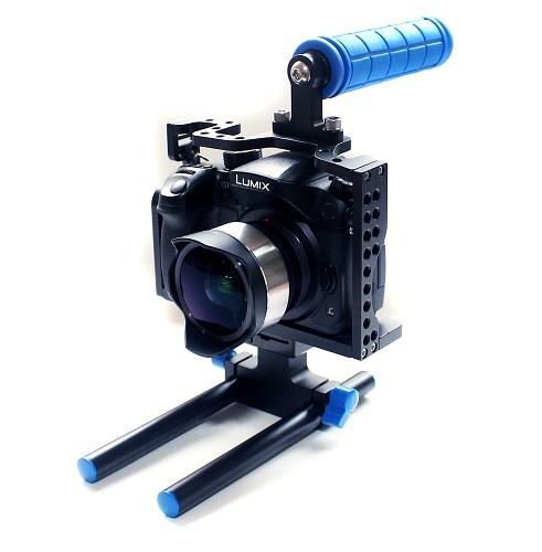 Здесь можно купить  High Qulity!!!DSLR rig cage kit with Top Handle Grip 15mm Rod for  Panasonic Lumix GH3 GH4  Бытовая электроника