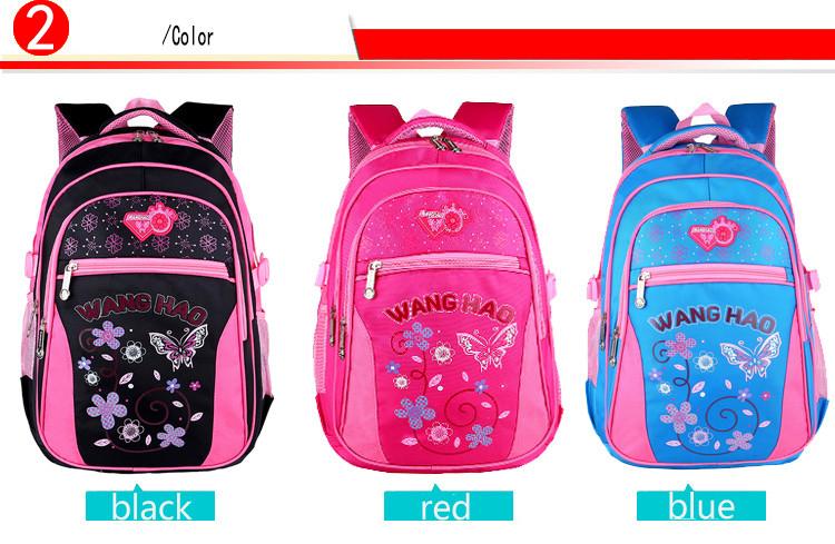 Мода дети ранцы 2016 новинка маленький ребенок рюкзак бабочка печать школьные рюкзаки для девочек PT524