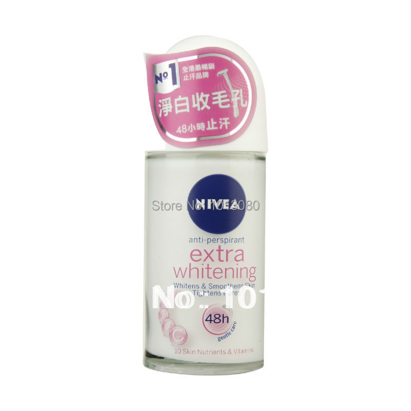 Nivea Extra 48h Whitening Cell Repair Pore Minimizer Deodorant Roll On Anti-perspirant 50ml(China (Mainland))