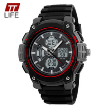 Buy TTLIFE Brand Top Fashion Men Sports Watches Chronograph 50M Waterproof Mens Outdoor Military LED Digital Dual Display Wristwatch for $8.86 in AliExpress store