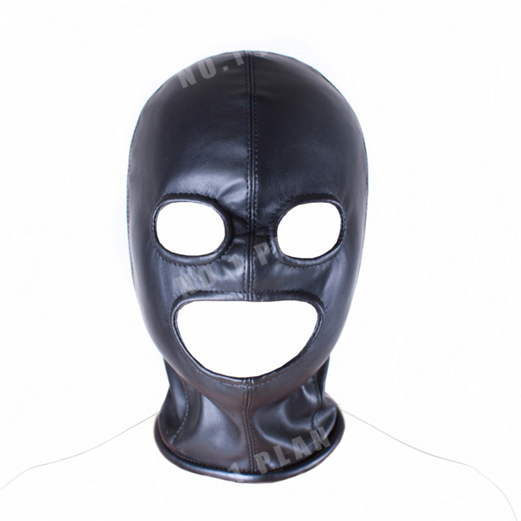 Soft PU Leather Hood Mask Head Bondage Slave In Adult Games For Couples,Fetish Sex Product Toys For  Women And Men - AS03<br><br>Aliexpress