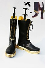 Custom made Black Megurine Luka Shoes boots from vocaloid Cosplay