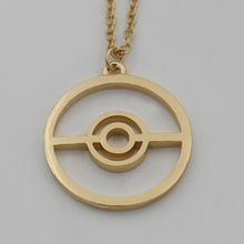 2015 Summer Style Pokeball Pokemon SteamPunk Vintage Necklace,the 14K Gold Filled Gamers Necklace,Great Gamer Accessory Gift
