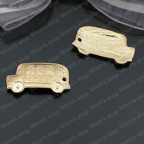 Wholesale 30*16mm Champagne Gold School Bus Alloy Charms Pendants Findings Accessories 20 pieces(JM3688)(China (Mainland))