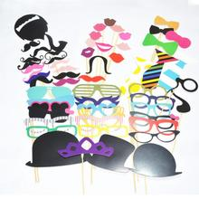 Free Shipping 58 pcs/lot Photo Booth Props Photobooth For Wedding Decoration Birthday Party Event & Party Supplies