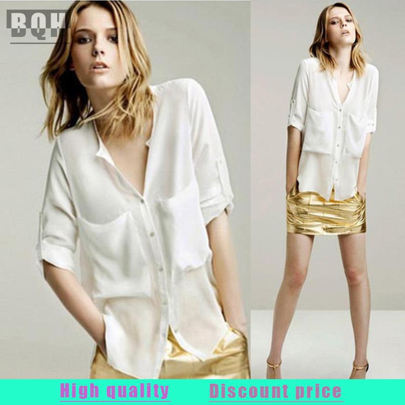 Женские блузки и Рубашки BQH 2015 blusas c204 блузки и рубашки