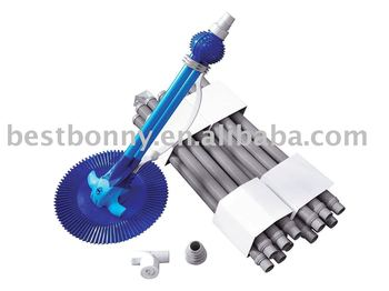 Swimming Pool automatic cleaner,Pool cleaner,Standard  Automatic vac cleaner with 9.6m vac hose(12pcs)
