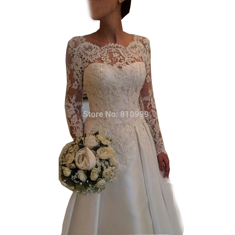 Wedding Gowns W Sleeves 38