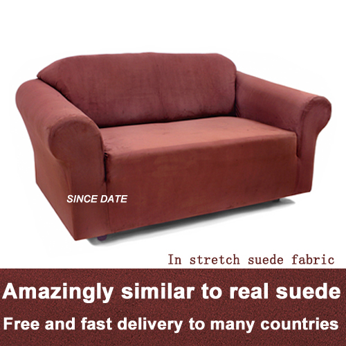 Fitted Stretch Suede Sofa Slipcover Elastic Furniture
