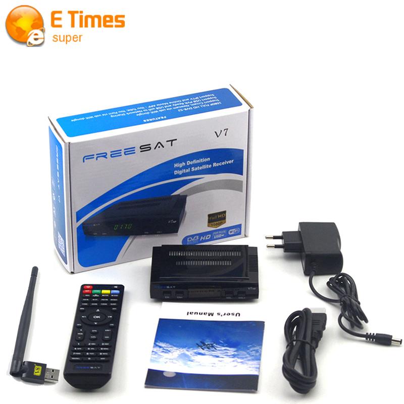 2016 New Arrival Digital tv satellite decoder Freesat V7 HD satellite receiver DVB-S2 +1PC WIFI Full 1080P support ccam youpron(China (Mainland))