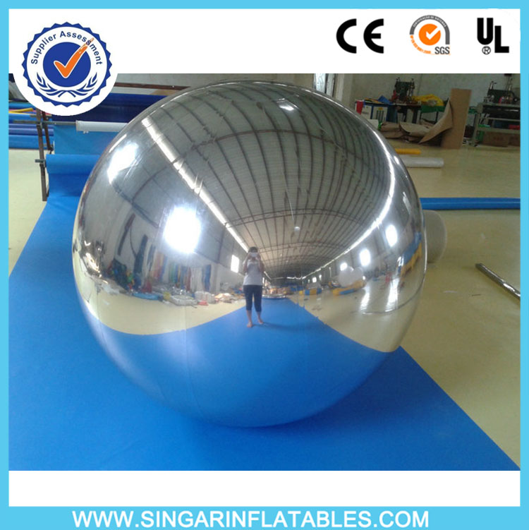 Free shipping 3.0m diameter silver inflatable mirror ball for promotion(China (Mainland))