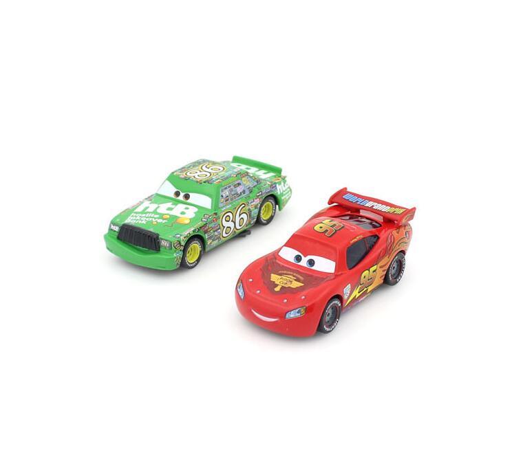 2Pcs/Set Pixar cars 2 NO.95+NO.86 Alloy car 1:55 die cast metal cars 100% original model car (no original packaging)(China (Mainland))