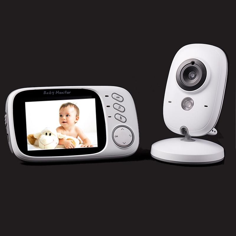 Фотография HOT 3.2 inch color LCD monitor Video Wireless Baby Monitor Security Camera 2 Way Talk Nigh Vision IR LED Temperature Monitoring