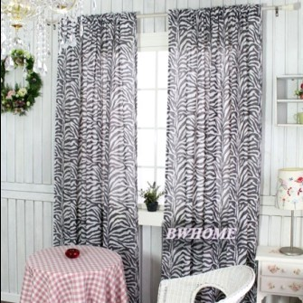 Morden Curtains for windows living room bedroom brief zebra print set of curtains tulle Roman Blinds sheer curtain140*230cm(China (Mainland))