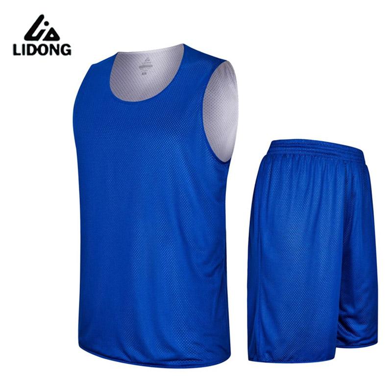 2016 Men's Double-sided Set Wear Reversible Basketball Jersey Clothes Training Suit Shirt+shorts Uniforms Custom Design Clothing(China (Mainland))