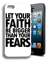 Faith Religious Christian Cute Inspirational White back Hard Plastic Mobile Phone Case Cover For Iphone 4 4S 5 5S 5C 6 6 Plus