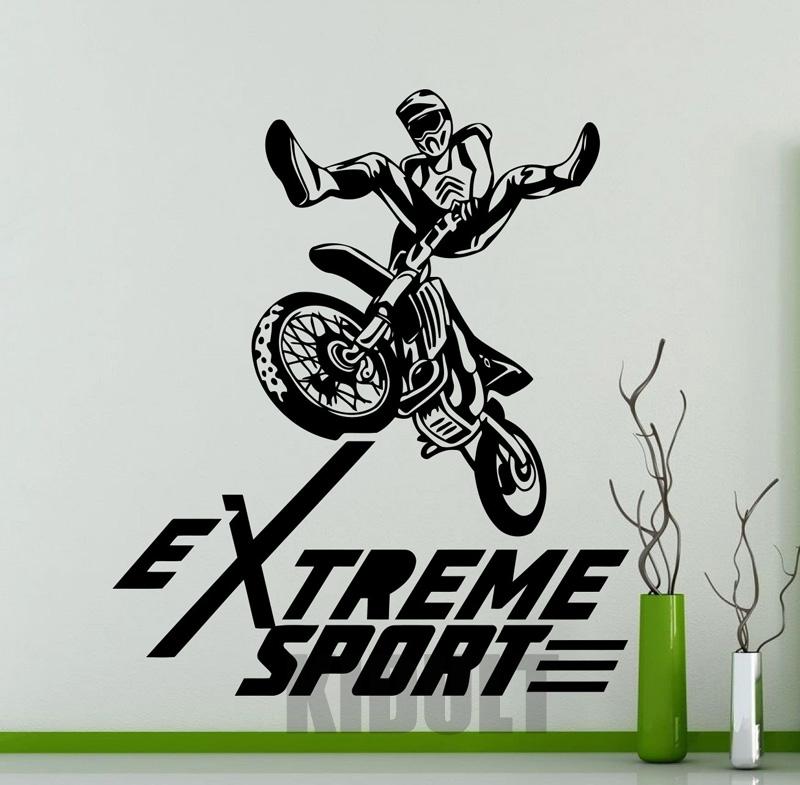 Motorcycle Motocross Extreme Sports Wall Sticker Wall Stickers Vinyl Stickers Bedroom Room Home Interior Art Deco Mural(China (Mainland))