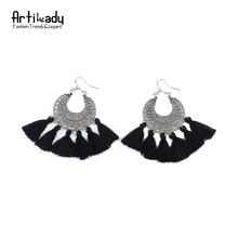 Artilady fashion boho tassel earring vintage bohemia women jewelry new year gift(China (Mainland))
