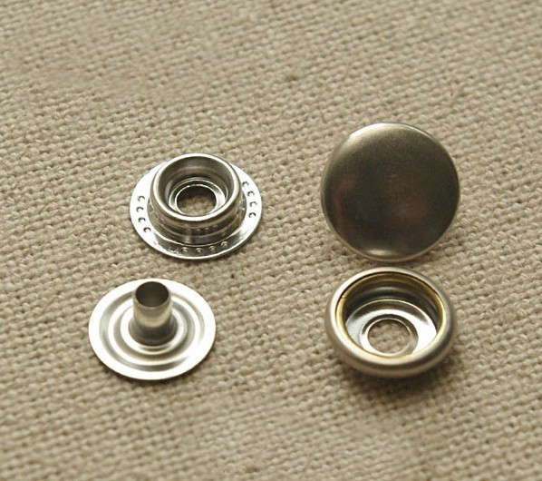 FREE SHIPPING New 100 sets 15mm Silver Round Leather Rapid Rivet Button Snaps Fasteners Combined Button(China (Mainland))