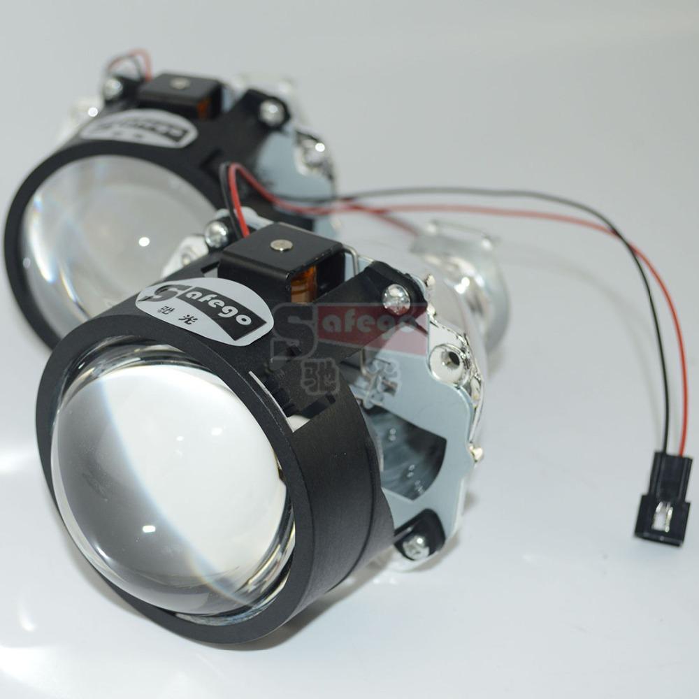 2pc WST 2.5inch bi xenon lens H4 H7 BiXenon bi-xenon Projector lens H1,H11,9005,9006 motorcycle car hid projector lens headlight(China (Mainland))