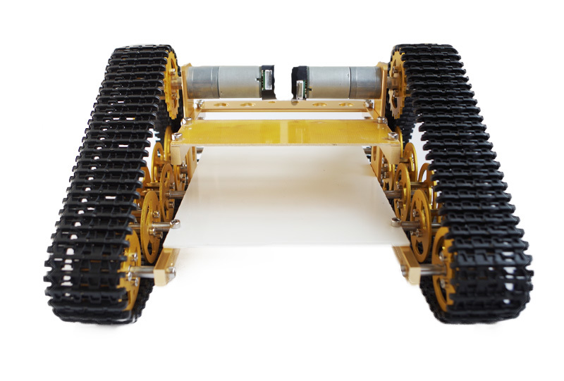 New arrived T400 full Metal Track type Aluminum RC Tank chassis Robot dolly Holzer velocity measurement hobbies DIY