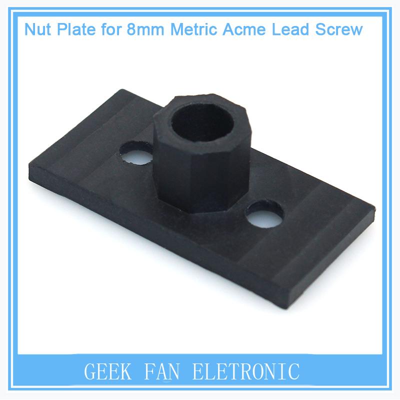 Presale 20pcsTeflon Nut Plate For Openbuilds C-beam Hardware T8 Lead Screw&Aluminum Profile Extrusion Printers Parts CNC Bracket