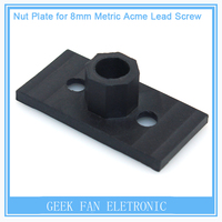 Presale 20pcsTeflon Nut Plate For Openbuilds C-beam Hardware T8 Lead Screw&Aluminum Profile Extrusion Printers Parts CNC Bracket