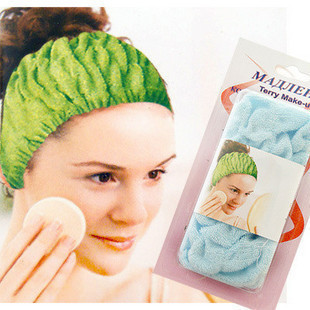 2015 Special Offer Hair Accessories Crown F926 Stretch Cotton Headband Beauty Makeup Wash Bath Towel Turban Necessary(China (Mainland))