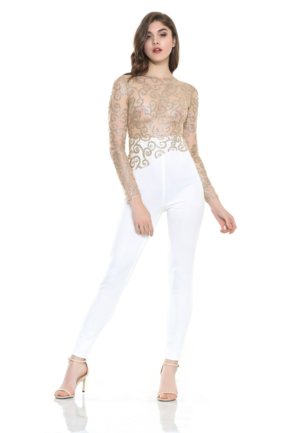 Popular See Through White Jumpsuit-Buy Cheap See Through White ...