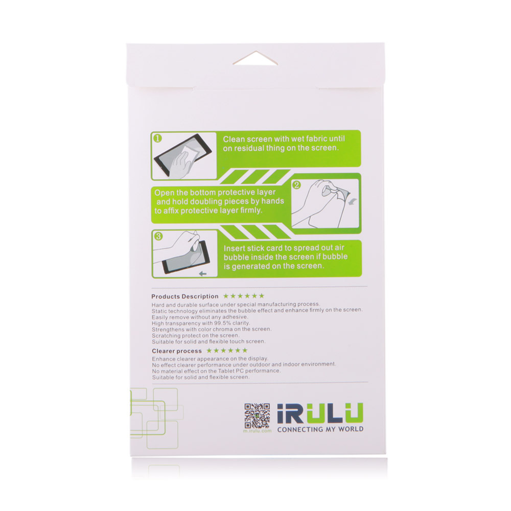IRULU 9 inch Tablet Screen Protector Protective Film for IRULU Tablet Accessories Wholesale Pet Lots 2015