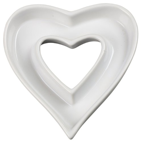 Heart Shape White Ceramic Letter Dish Or Plate For Candy