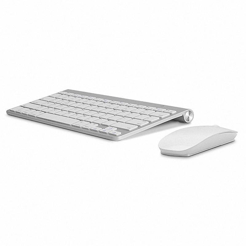 2.4G Ultra-Thin Silent Wireless Keyboard Mouse Combos Wireless Teclado Combo for Apple Style Mac Pc WindowsXP/7/8/10 Tv Box(China (Mainland))