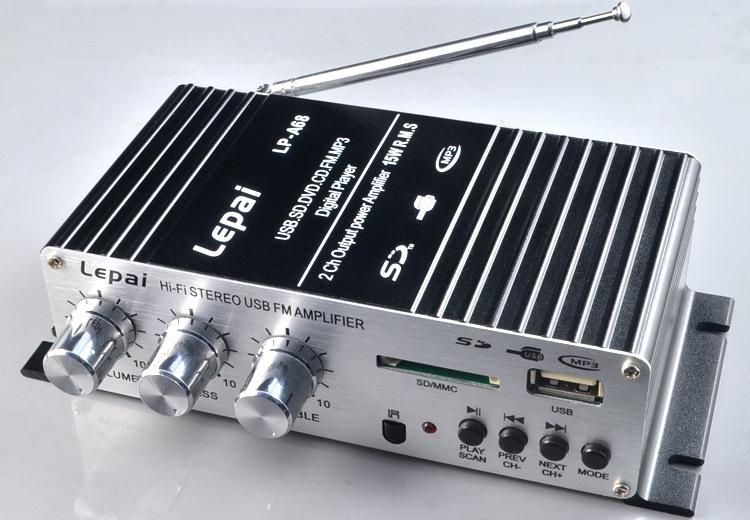 Аудио усилитель lepai A68 USB /sd /fm 12Vcar аудио усилитель oem dhl fedex 20 usb sd fm 2 5 12 v 11